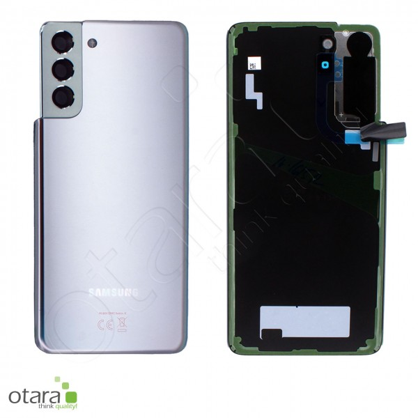 Akkudeckel Samsung Galaxy S21 Plus (G996), phantom silver, Serviceware
