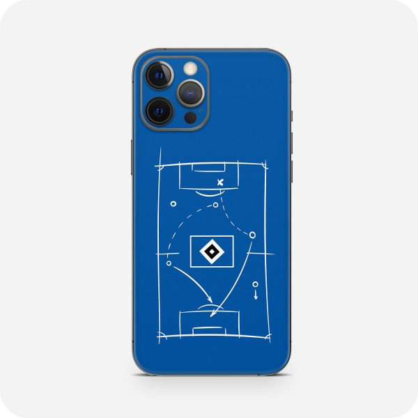 """GREEN MNKY Backcover Skin Smartphone 7"""" (HSV Kollektion) """"HSV Tactic Board Blue"""" [3 Stück]"""