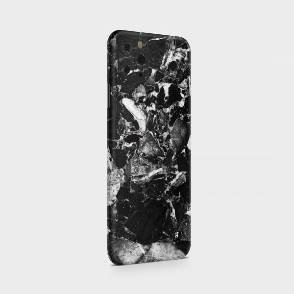 "GREEN MNKY Backcover Skin Smartphone 7"" (Struktur Serie) ""Black & White Marble"" [3 Stück]"