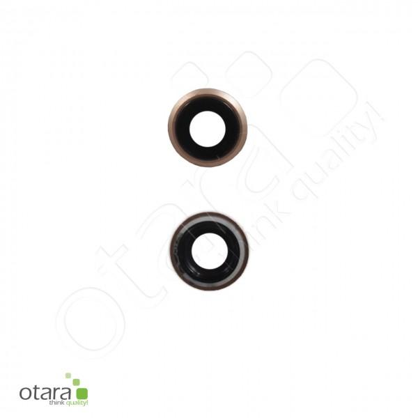 Kameraglas Linse (mit Rahmen) geeignet für iPhone 8, rose gold