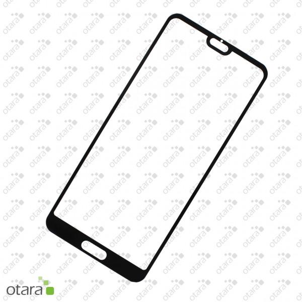 Schutzglas Edge to Edge (full glue) für Huawei P20, schwarz (ohne Retail Verpackung)