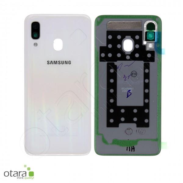 Akkudeckel Samsung Galaxy A40 (A405F), white, Serviceware