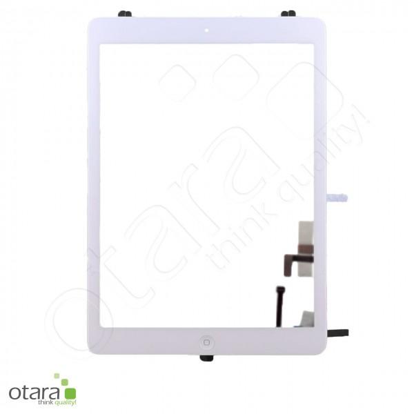 Displayglas geeignet für iPad Air 1 (2013) A1474 A1475 A1476 (m.HB), weiß