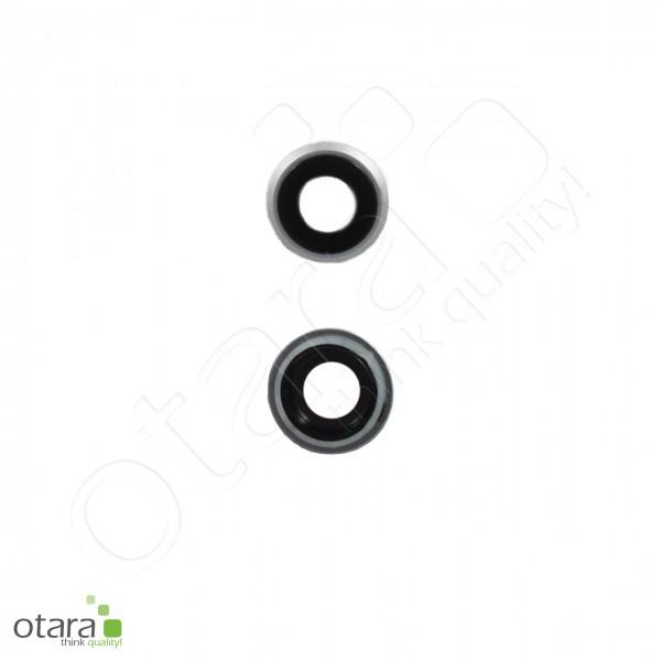 Kameraglas Linse (mit Rahmen) geeignet für iPhone 8, weiß