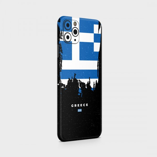 "GREEN MNKY Backcover Skin Smartphone 7"" (Flags Serie) ""Greece Flag"" [3 Stück]"