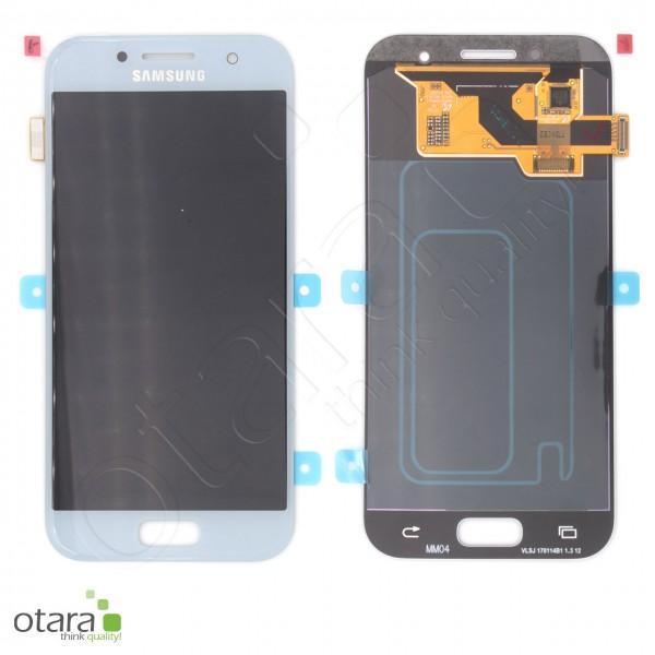 Displayeinheit Samsung Galaxy A3 2017 (A320F), blau, Serviceware