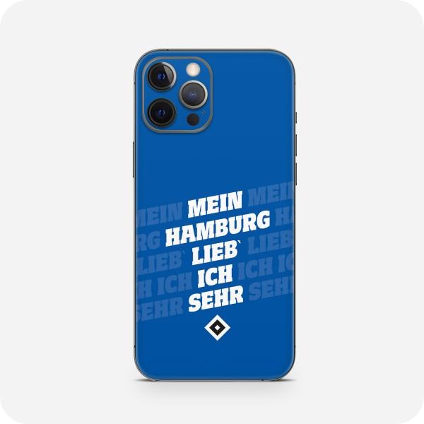 "GREEN MNKY Backcover Skin Smartphone 7"" (HSV Kollektion) ""Mein Hamburg Lieb ich sehr(kurs"" [3 Stück]"