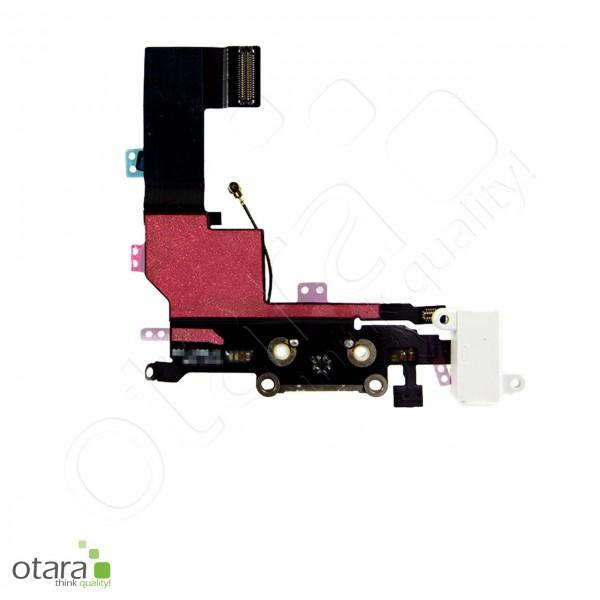Lade Konnektor + Audio Flexkabel geeignet für iPhone 5s, weiß