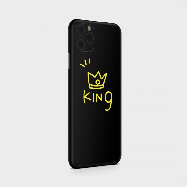 "GREEN MNKY Backcover Skin Smartphone 7"" (Design Serie) ""Cute King"" [3 Stück]"