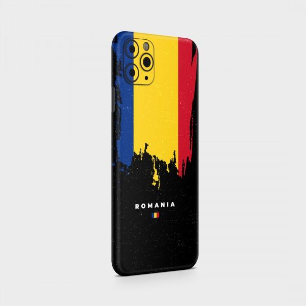 "GREEN MNKY Backcover Skin Smartphone 7"" (Flags Serie) ""Romania Flag"" [3 Stück]"