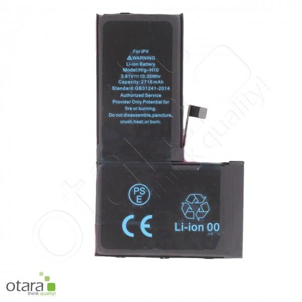 Akku Premium TI Chip geeignet für iPhone X [3.81V 2716mAh] +Akkuklebestreifen