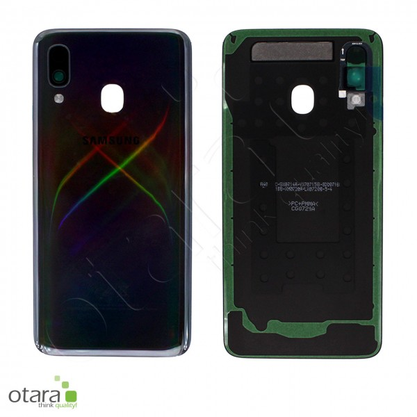 Akkudeckel Samsung Galaxy A40 (A405F), black, Serviceware