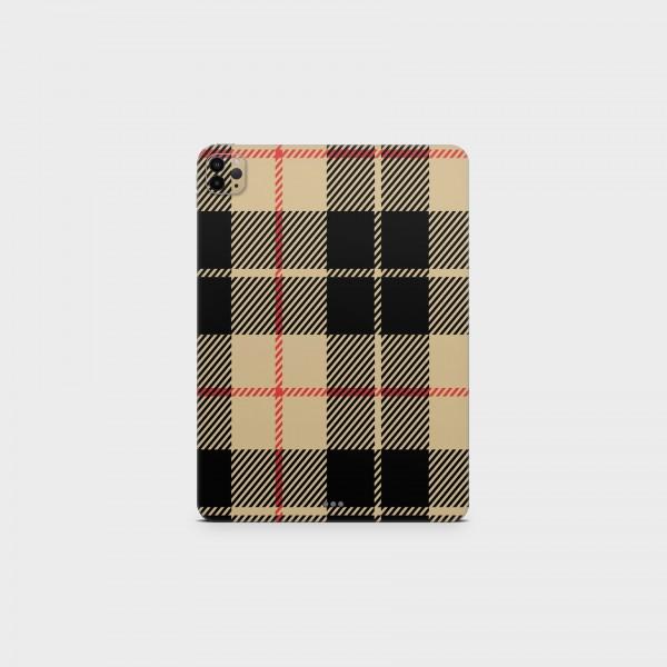 """GREEN MNKY Backcover Skin Tablet 11"""" (Scottish Serie) """"Scottish Caro Black & Brown"""" [3 Stück]"""