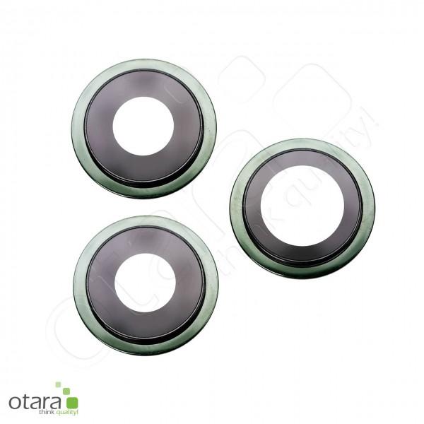 Kameraglas Linse (mit Rahmen) geeignet für iPhone 11 Pro/11 Pro Max (Set aus 3), grün