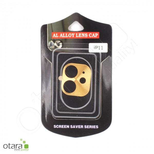 Aluminium Schutz für Hauptkamera iPhone 11, gold (mit Retail Verpackung)