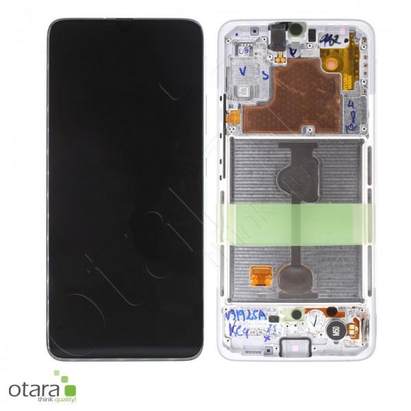 Displayeinheit Samsung Galaxy A90 5G (A908F), modern white, Serviceware