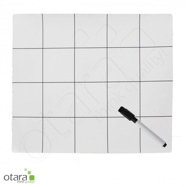 Arbeitsmatte, magnetisch, mit Aufteilung, inkl. Stift (abwischbar), 30x25cm