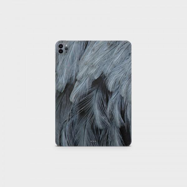 """GREEN MNKY Backcover Skin Tablet 11"""" (Struktur Serie) """"Grey Feathers"""" [3 Stück]"""