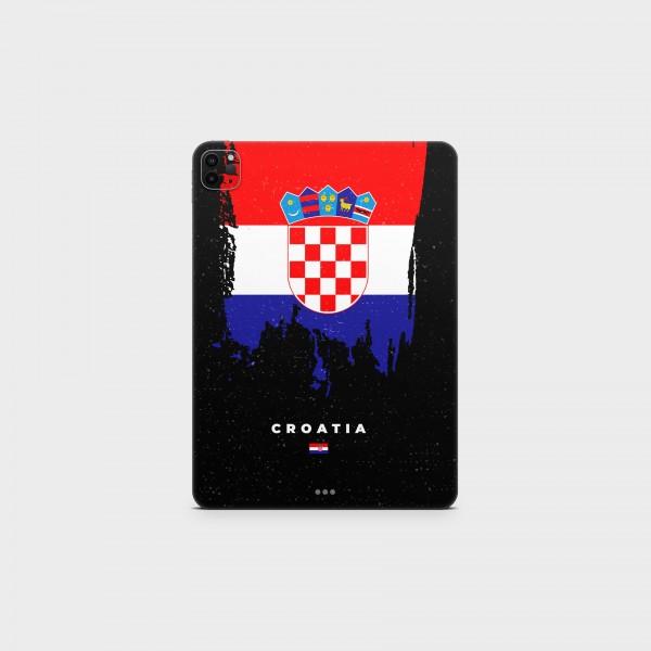 """GREEN MNKY Backcover Skin Tablet 11"""" (Flags Serie) """"Croatia Flag"""" [3 Stück]"""