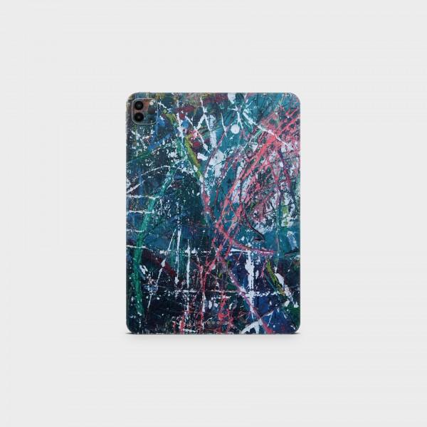 """GREEN MNKY Backcover Skin Tablet 11"""" (Struktur Serie) """"Crazy Painter"""" [3 Stück]"""