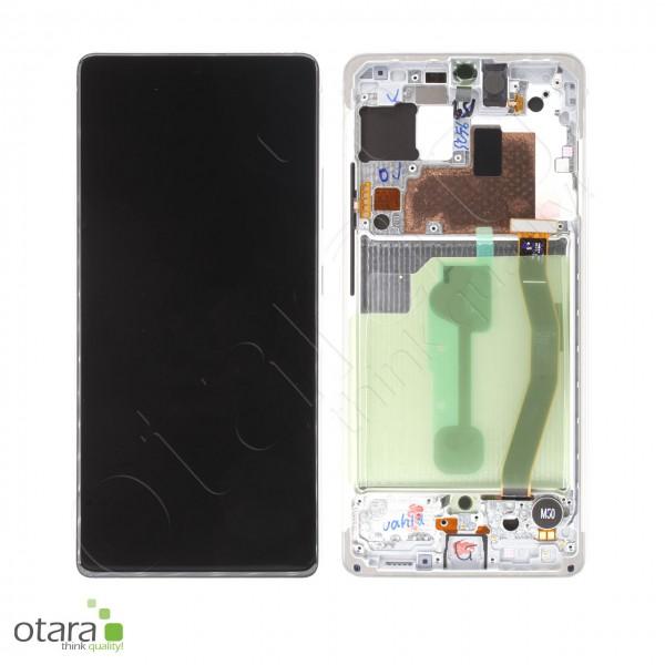 Displayeinheit Samsung Galaxy S10 Lite (G770F), Prism White, Serviceware
