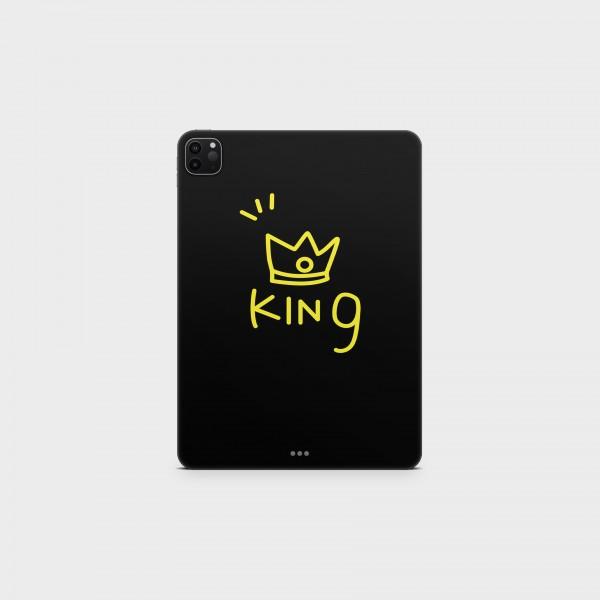 "GREEN MNKY Backcover Skin Tablet 11"" (Design Serie) ""Cute King"" [3 Stück]"