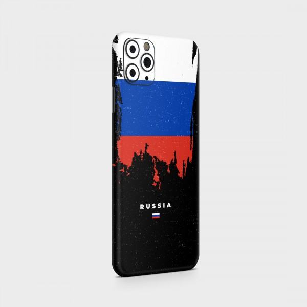 """GREEN MNKY Backcover Skin Smartphone 7"""" (Flags Serie) """"Russia Flag"""" [3 Stück]"""