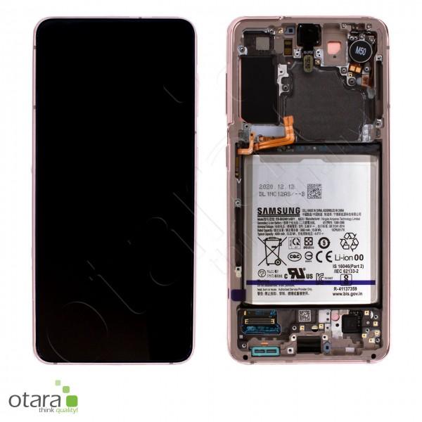 Displayeinheit Samsung Galaxy S21 (G991), inkl. Akku, phantom violet, Serviceware
