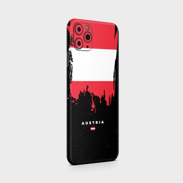"GREEN MNKY Backcover Skin Smartphone 7"" (Flags Serie) ""Austria Flag"" [3 Stück]"