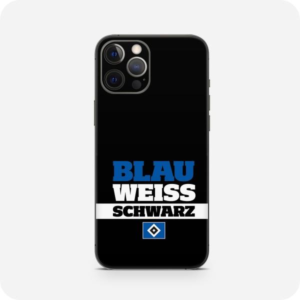 "GREEN MNKY Backcover Skin Smartphone 7"" (HSV Kollektion) ""Blau Weiss Schwarz Classic"" [3 Stück]"