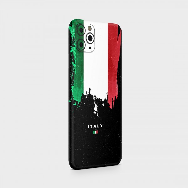 """GREEN MNKY Backcover Skin Smartphone 7"""" (Flags Serie) """"Italy Flag"""" [3 Stück]"""