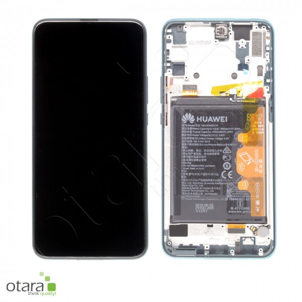 Displayeinheit inkl. Rahmen, Akku für Huawei P Smart Z, emerald green, Serviceware