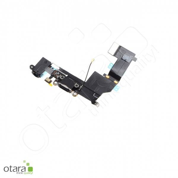 Lade Konnektor + Audio Flexkabel geeignet für iPhone SE, schwarz