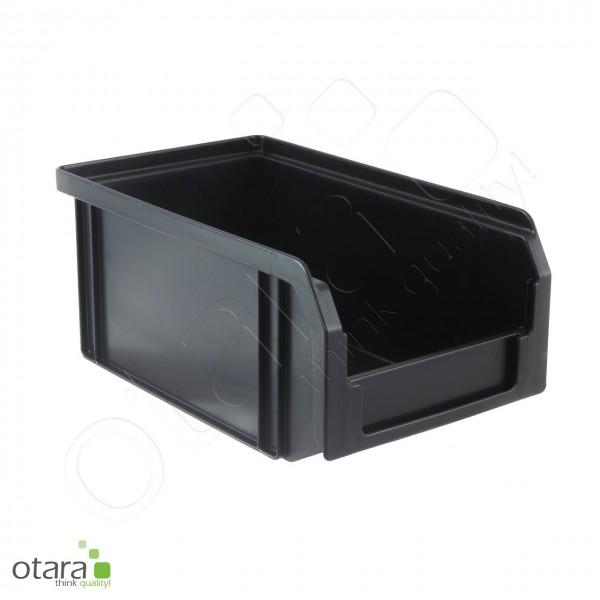 Sichtlagerkasten 160x102x75 mm, ESD, leitfähig, schwarz