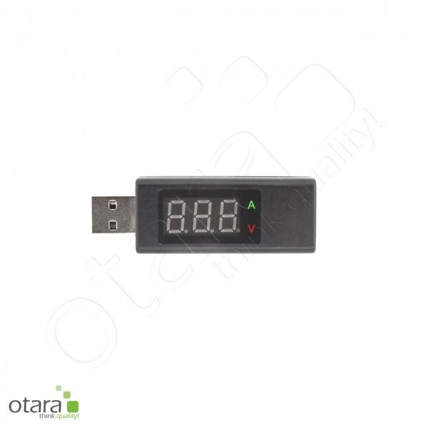 USB Multimeter, Messgerät: Stromstärke (4 Ampere) und Spannung (5 Volt)