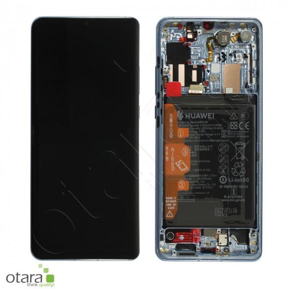 Displayeinheit inkl. Rahmen, Akku Huawei P30 Pro, breathing crystal, Serviceware