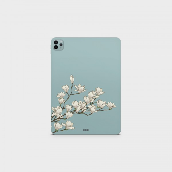 """GREEN MNKY Backcover Skin Tablet 11"""" (Design Serie) """"White Orchidee"""" [3 Stück]"""