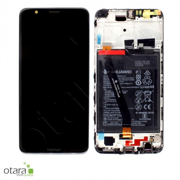 Displayeinheit inkl. Rahmen, Akku Huawei Honor 7X (BND-L21), schwarz, Serviceware