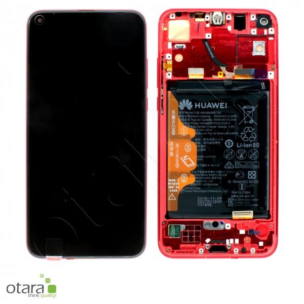 Displayeinheit inkl. Rahmen, Akku Huawei Honor View 20, phantom red, Serviceware