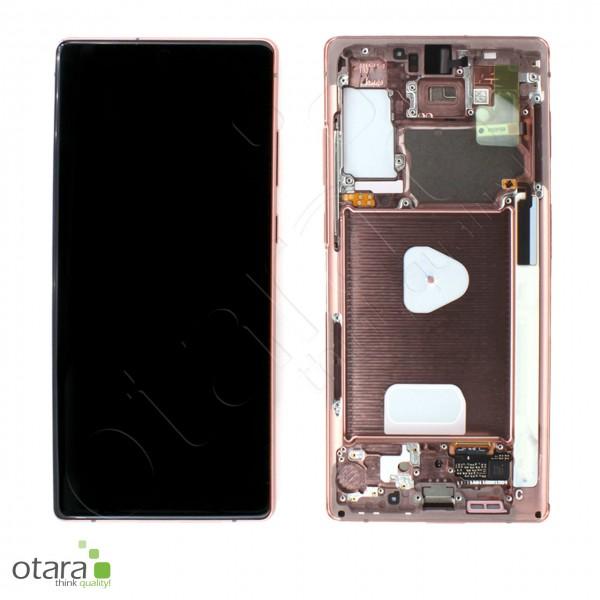 Displayeinheit Samsung Galaxy Note 20 (N980F), Note 20 5G (N981F), mystic bronze, Serviceware