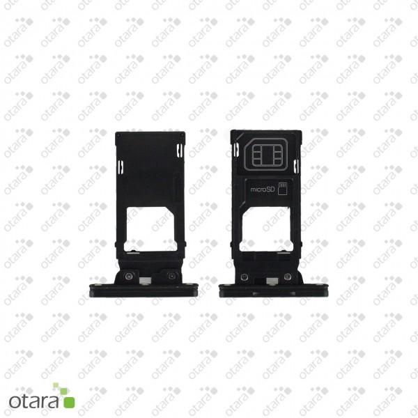 Sony Xperia XZ2 Premium (H8116) geeignete Simkarte SD Karte Abdeckung, chrome black