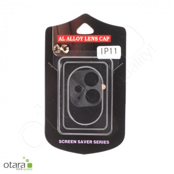 Aluminium Schutz für Hauptkamera iPhone 11, schwarz (mit Retail Verpackung)