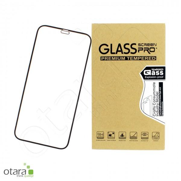 Schutzglas Edge to Edge für iPhone 12 Mini, schwarz