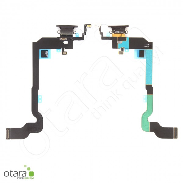 Lade Konnektor Flexkabel geeignet für iPhone X (Ori/pulled Qualität), schwarz