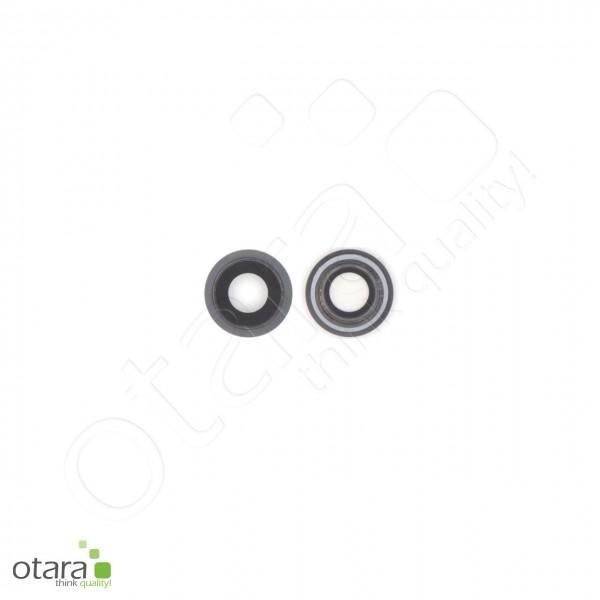 Kameraglas Linse (mit Rahmen) geeignet für iPhone 8, schwarz