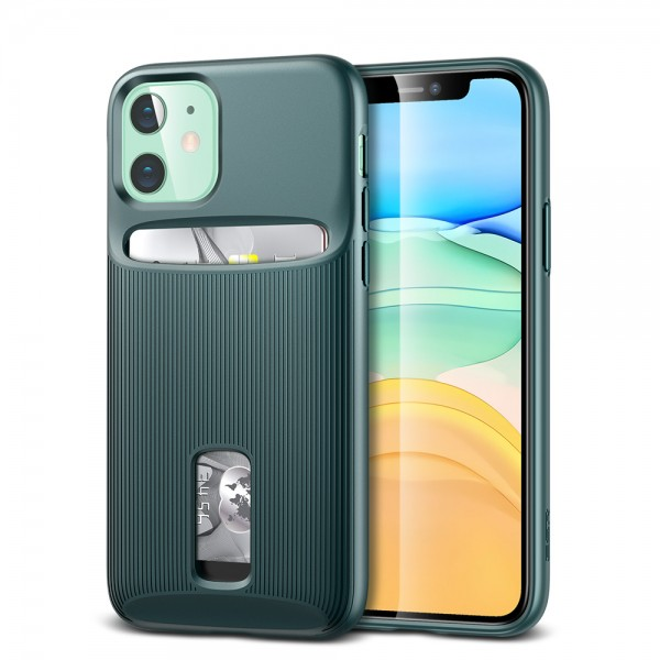 ESR Case iPhone 11 Wallet Armor Pine Green
