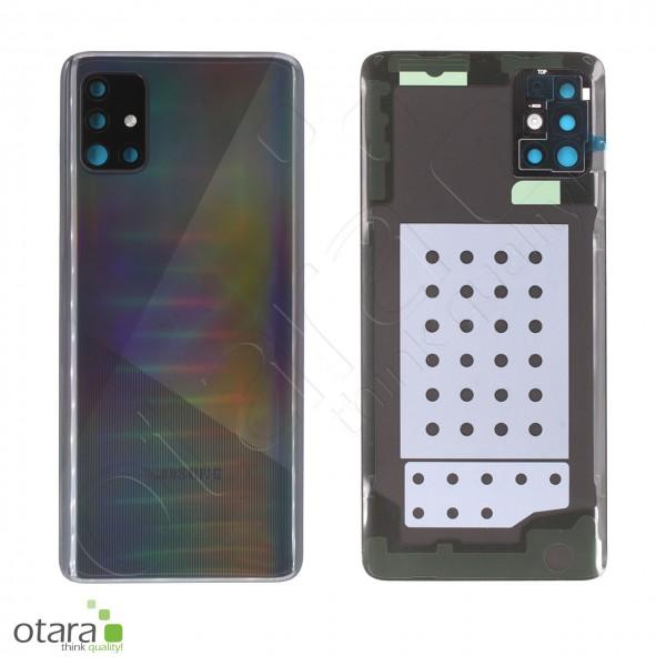 Akkudeckel Samsung Galaxy A51 (A515F), Prism crush black, Serviceware