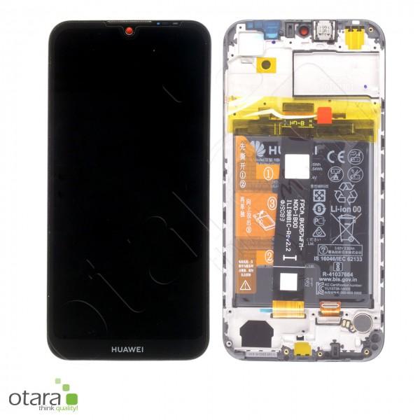 Displayeinheit inkl. Rahmen, Akku Huawei Y5 2019, midnight black, Serviceware