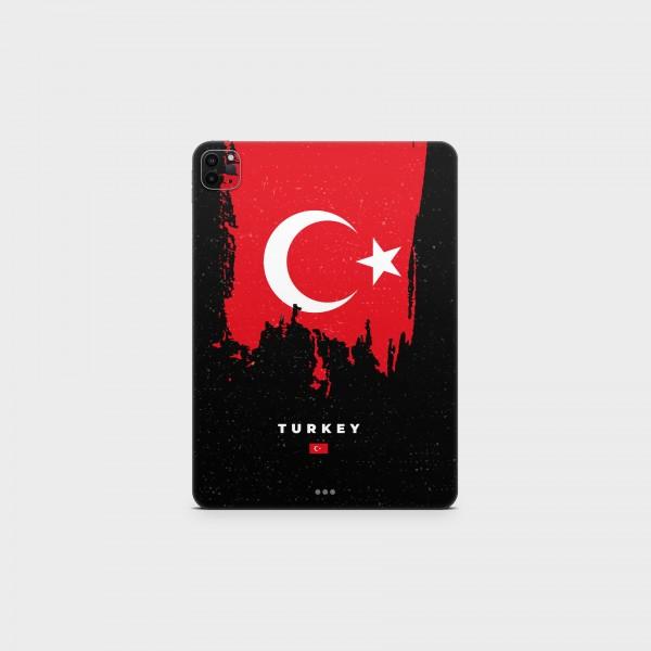 "GREEN MNKY Backcover Skin Tablet 11"" (Flags Serie) ""Turkey Flag"" [3 Stück]"