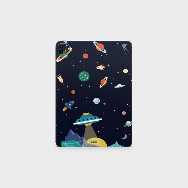 "GREEN MNKY Backcover Skin Tablet 11"" (Struktur Serie) ""Cartoon Galaxy"" [3 Stück]"